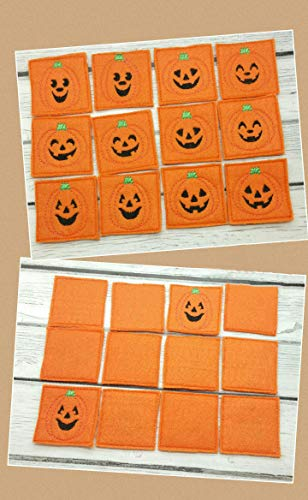 Pumpkin Matching Halloween Game For Kids, Toddler Montessori Educational Learning Toy ()