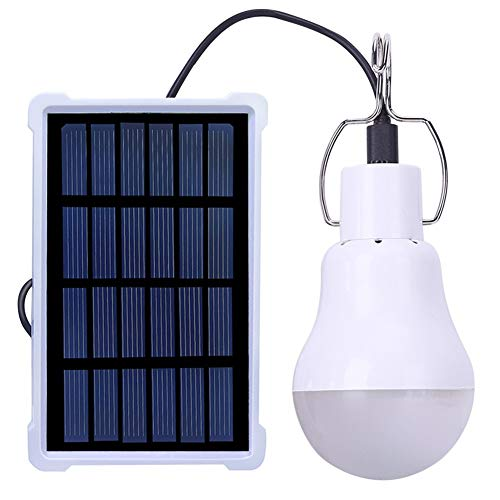 SZYOUMY Solar Portable 12LED Smart Light Control Bulb Solar Panel Lamp USB Powered Rechargeable Lantern Lamps for Home Shed Barn Indoor Outdoor Emergency Hiking Tent Reading Camping Night Work Light
