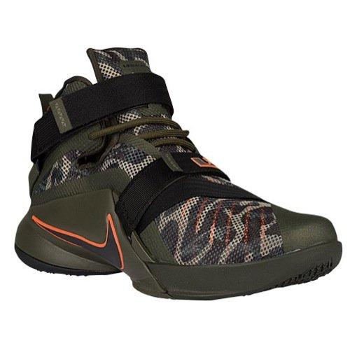 Nike Mens Lebron Top - nike lebron soldier IX PRM mens hi top basketball trainers 749490 sneakers shoes (UK 10 us 11 EU 45, cargo khaki black sequoia bomb 303)