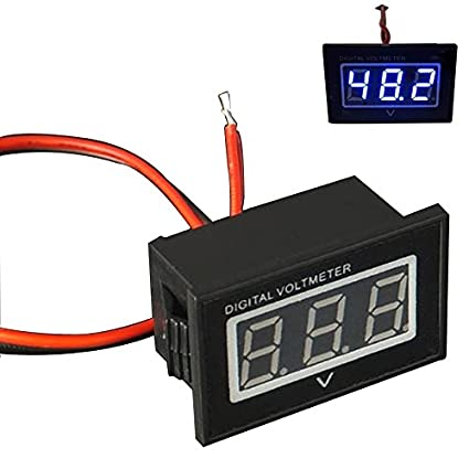 amazon com 48v golf cart digital volt meter battery gauge club car club car parts diagram 48v golf cart digital volt meter battery gauge club car ezgo yamaha 48 volt blue