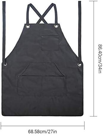 ガーデニングエプロン 園芸大工の芝生の手入れのためのポケット調節可能な肩ひも付きの防水、