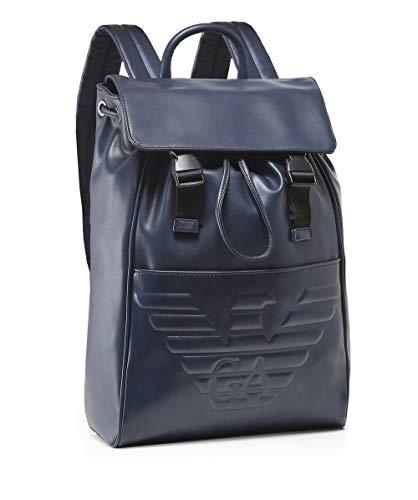 Blu Maxi Backpack Logo Blu Armani Debossed Men's q0z1A1
