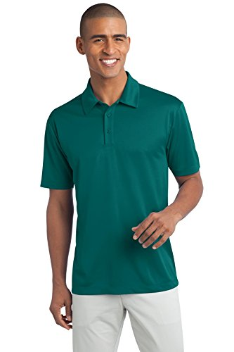 - Port Authority Men's Silk Touch Performance Polo XL Teal Green