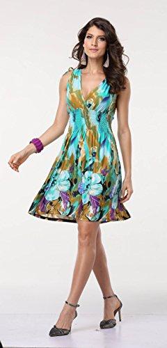 JINHUANSHOW Women's Spring Summer Bold Printed Dresses Flower14 (Large, Color3)