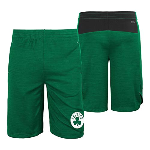 Outerstuff Boston Celtics NBA Youth Free Throw Shorts Green (Youth Large 14/16)