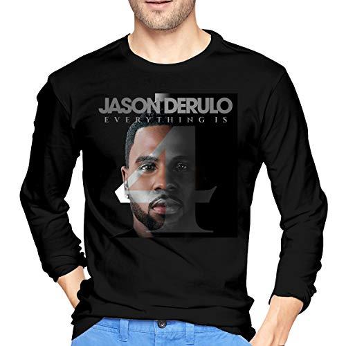 JeremiahR Men's Jason Derulo Everything is Long Sleeve T Shirt Black M (Jason Derulo Sweatshirt)