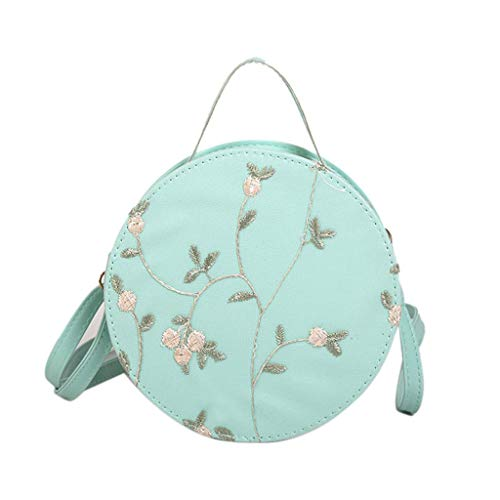 XLnuln Women's Fashion Shoulder Bags Lace Fresh Handbag Crossbody Bag Solid Color Small Round ()
