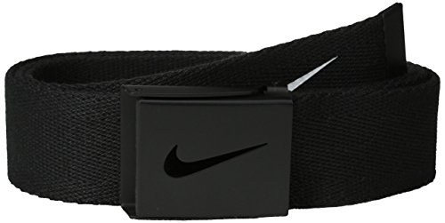 Nike Men's Tech Essential Web Belt, Black, One (Tiger Cotton Belt)