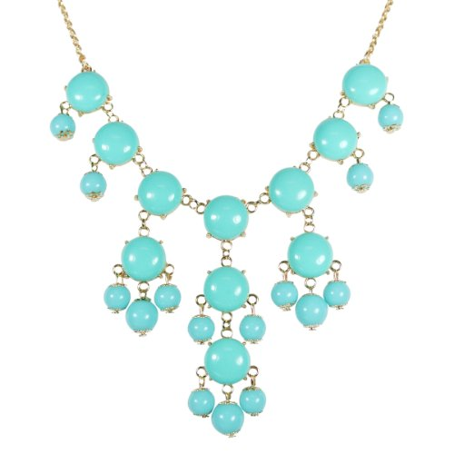 Wrapables Mini Bubble Bib Statement Necklace, Sky Blue (Necklace Blue Bubble Sky)