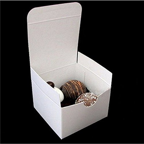 3x3x2in. White Gloss Gift Boxes - 20 Pack
