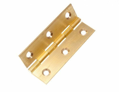 BUTT HINGE ( DOOR BOX ) EXTRUDED BRASS 63MM 2 1/2 INCH WITH SCREWS ( 1 pair ) by ONESTOPDIY.COM