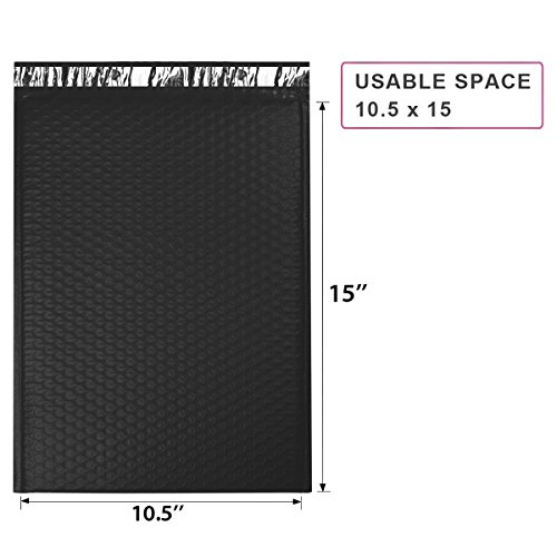 ucgou-105x16-inch-black-bubble-mailer-5-self-seal-padded-envelopes-bags-pack-of-25