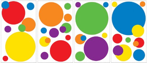 (6x11) Just Dots - Primary Repositional Wall Decal