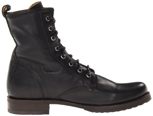 mujer 76276 Veronica Black canvas Soft Leather Botas de Frye Vintage Combat wXZqS1Sv