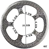 Bicycle Bike Cycling Chainring Sprockets Cranksets Guard Protector 46T 5bolts-65mm Color Silver