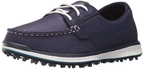 Skechers Performance Women's Go Golf Elite Leathertex Boat Shoe,Navy,7.5 M US