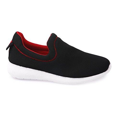La Modeuse-zapatillas de running de tela Negro - negro