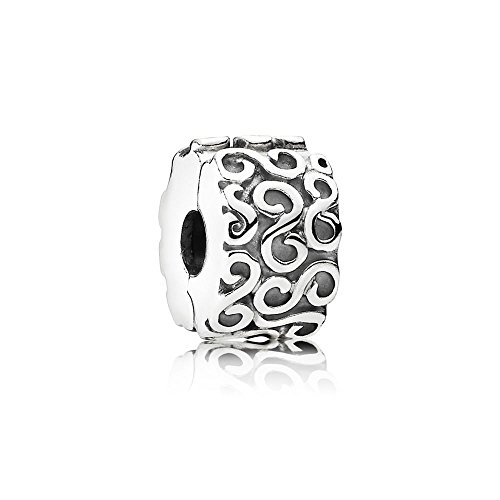 PANDORA S Clip Charm, Sterling Silver, One Size ()