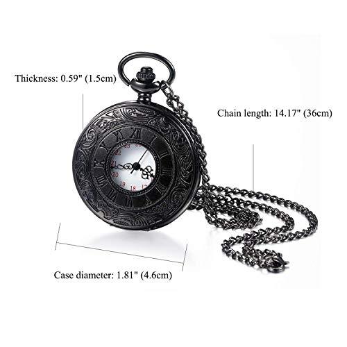 ZJZ Ny fickur, halv jägare klassisk handvind mekanisk romersk fickur