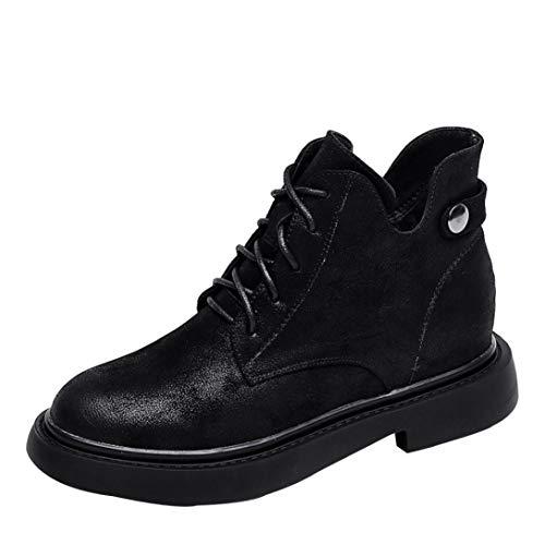 Negro de UFACE para Sandalen Zapatos Model Mujer Size One Lona de Cordones HaPaXrq