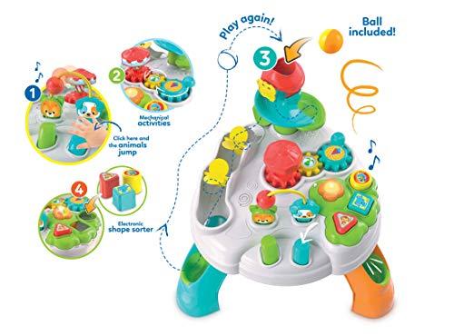 Clementoni- Baby Tavolo attività Parco degli Animali, 12+ Mesi, Multicolore, 17300 5