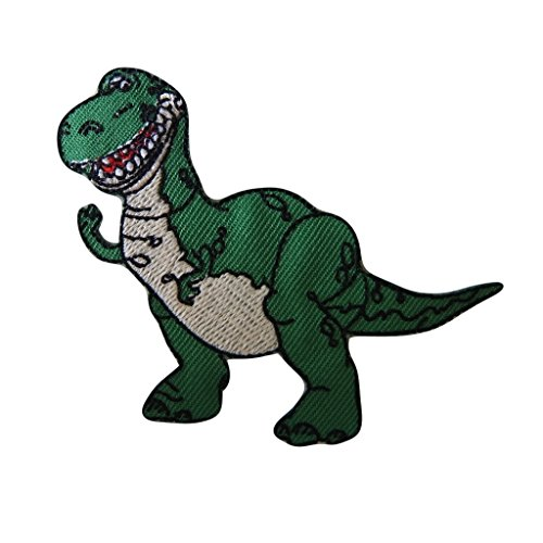Toy Story Dinosaur Costume (Disney's Toy Story Series Rex the Dinosaur Figure Embroidered Patch Decorative Applique)