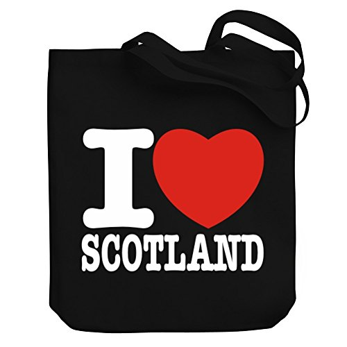 Teeburon I love Scotland Canvas Tote Bag by Teeburon
