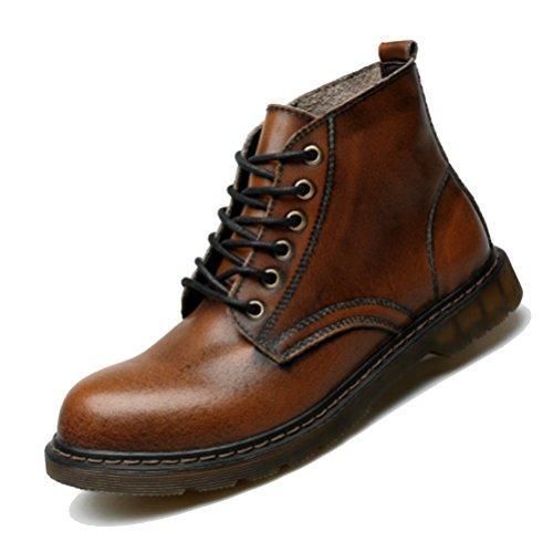 Männer Niedrige Hilfe Martin Stiefel Booties Herbst Winter Mode Koreanische Workwear Stiefel Chelsea Boots Schuhe Brown
