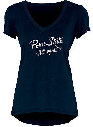 Blue 84 NCAA Penn State Nittany Lions Women's Liquid Jersey V-Neck, Navy, (Penn State Nittany Lions Couch)