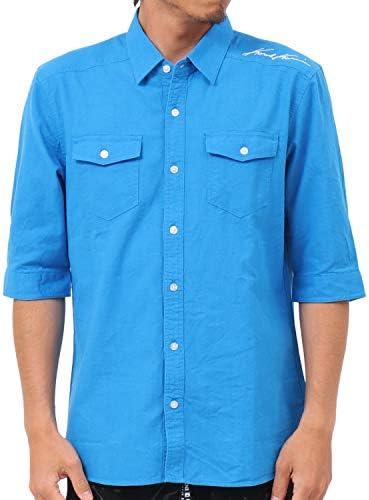 [カールカナイ] Karl Kani シャツ 六分袖 カラー 綿麻 192K1503