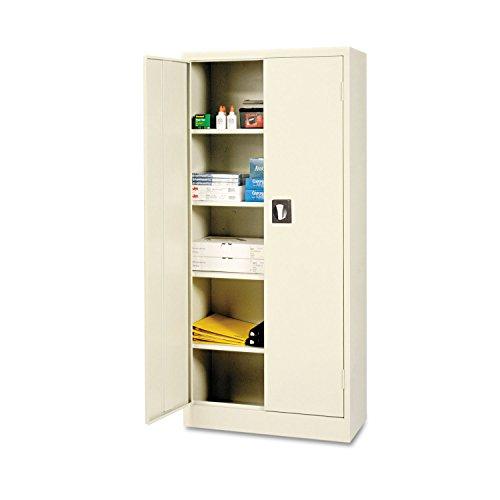Alera ALECM6615PY Space Saver Storage Cabinet, Four Shelves, 30w x 15d x 66h, Putty