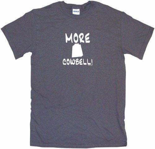Big Band Vst (More Cowbell Big Boy's Kids Tee Shirt Youth Medium-Charcoal)
