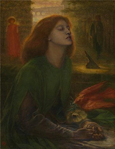 Oil Painting 'Dante Gabriel Rossetti - Beata Beatrix,1864-1870' Printing On Perfect Effect Canvas , 24x31 Inch / 61x79 Cm ,the Best Living Room Gallery Art And Home Gallery Art And Gifts Is This High Definition Art Decorative Canvas Prints
