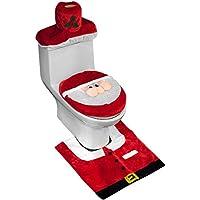 D-FantiX 3D Nose Santa Toilet Seat Cover Set Red...