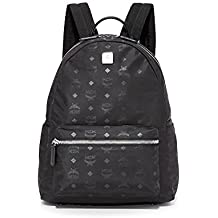 MCM Men's Dieter Monogram Nylon Backpack, Black, One Size