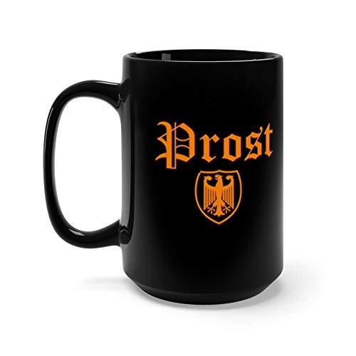 Prost! Cheers German Language With Eagle Shield 15 Oz Ceramic Glossy Mugs Gift For Coffee Lover Unique Coffee Mug, Coffee Cup. ()