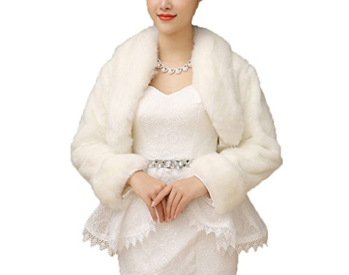 Winter Women's Wraps Cape Faux Fur Wedding Coat Suit Jacket Shawl Wraps