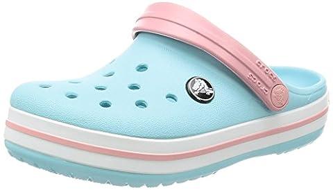 crocs Kids' Crocband K Clog,Ice Blue/White,8 M US Toddler - Blue Croc
