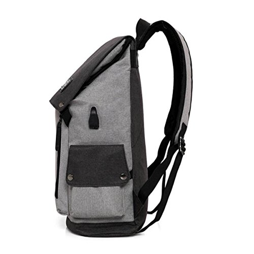 Backpack Computer Bag Women Capacity Package Theft Waterproof Multi Men Charging Large Functional Student Grey Shoulder Travel Usb And Anti dXqawRpR