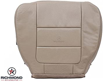 Passenger Side Bottom Leather Seat Cover TAN 2001 Ford F150 Lariat Super-Crew