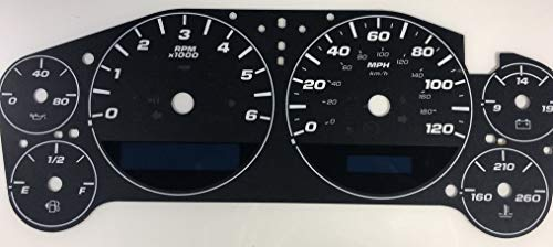 US Speedo 2007-2013 Chevy Silverado/Tahoe/Avalanche 120 MPH OEM Conversion Gauge Face Only