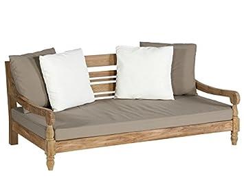 Lounge sofa outdoor teak  KAWAN Lounge Sofa Teak Recycled inklusive Kissen: Amazon.de: Garten