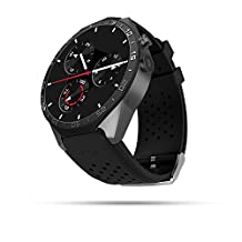 AWOW 3G WIFI Smart Watch Cell Phone All-in-One Android 5.1 Supports Nano SIM Card With GPS Camera Heart Rate Monitor Google Map Google Play (Black)