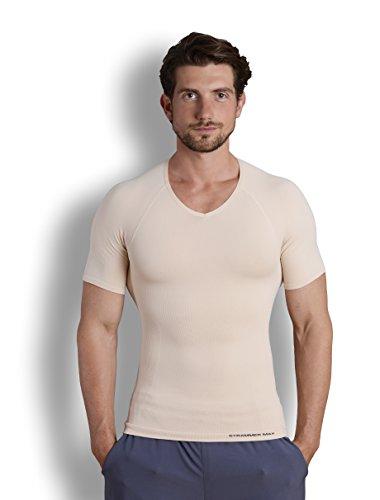 Strammer Max - Shapewear V-Neck T-Shirt, Nude (l)