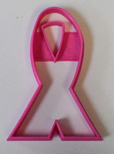 (Ribbon cancer awareness cookie cutter cake fondant special occasion event party 3D Printed - Made in USA PR316)