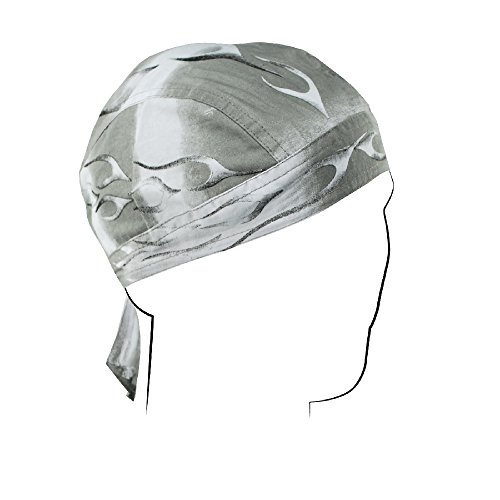 Zan Headgear Z355, Flydanna, Cotton, Silver Tank Flame
