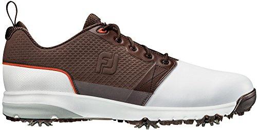 FootJoy ContourFIT Golf Shoes White/Brown 12 Medium Previous (Contour Golf Shoes)