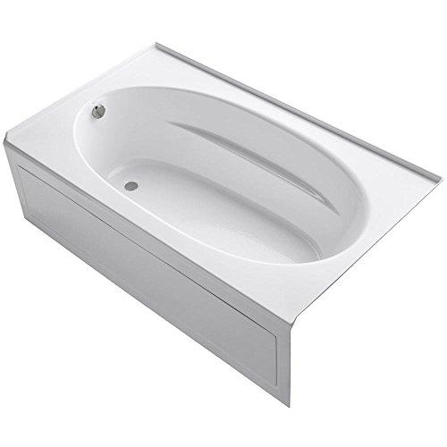 Acrylic Windward White (KOHLER K-1115-LA-0 Windward 6-Foot Bath with Integral Apron, White)