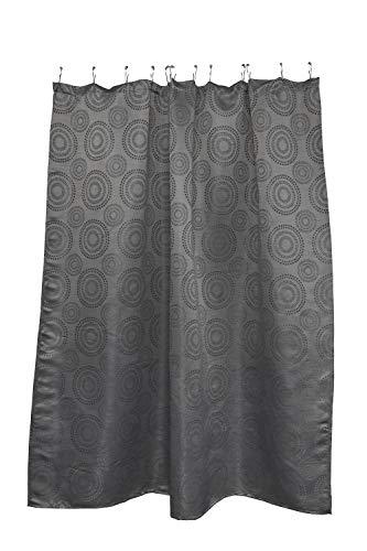 Home Maison Zev Grey Fabric Shower Curtain: Geometric Circle Medallion Design - Maison Grey Rug