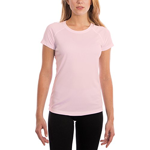 (Vapor Apparel Women's UPF 50+ UV Sun Protection Performance Short Sleeve T-Shirt XX-Large Pink Blossom)